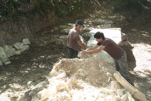Restauration du pont mégalithique de La Chevrolière - GVSPA