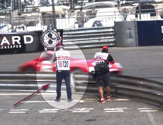 Bernd fotografiert an der Rennstrecke Monaco