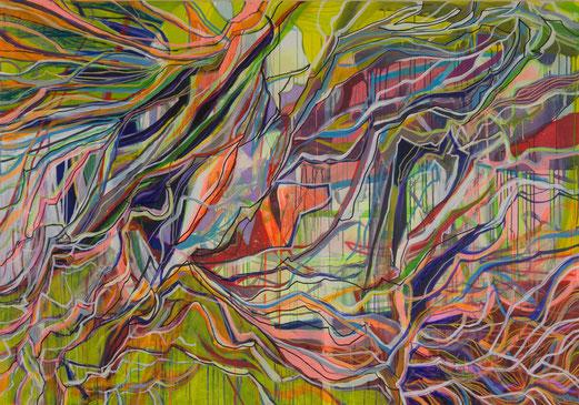 kaskade, 200x140cm, acryl on canvas, banck 2015