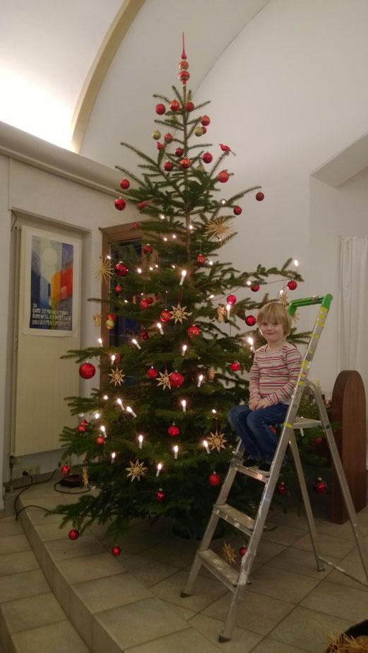 Der Stami-Weihnachtsbaum 2013 - Vor dem Umsturz noch mit Spitze