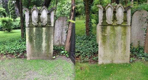 Während unseres Projekts Andenkenpflege auf dem Neuen Israelitischen Friedhof in München sind wir auch auf das Grab von Paul Goldlust gestoßen. Nach unseren Arbeiten ist es wieder möglich seinen Namen zu lesen.