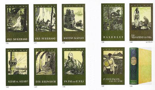 Kriegsausgaben in der kartonierten Fassung (Quelle: Karl-May-Bibliografie Karl-May-Verlag)
