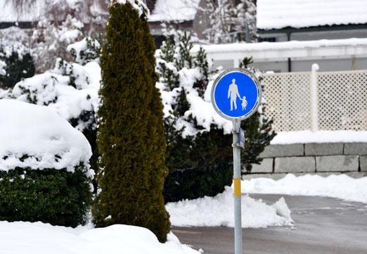 18. Januar 2019 -Der Winter ist zurück. Achtung, Schnee und Eis. Händchen halten!