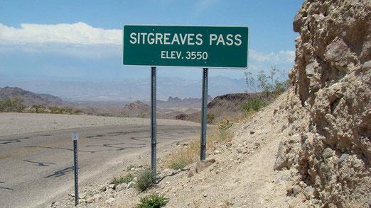 Auf der Sitgreaves Passhöhe angelangt.