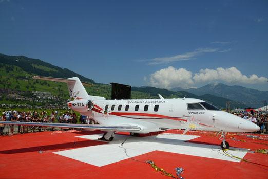 Der neue Business-Jet PC-24 ist das erste Düsenflugzeug aus Schweizer Produktion seit einem halben Jahrhundert.  (Foto: Bruno Wigger, Stans)