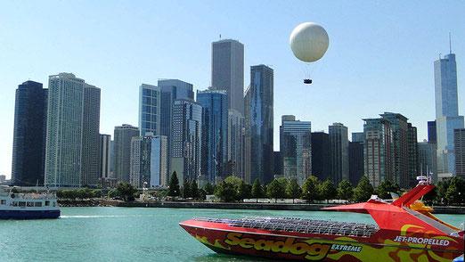 Chicago: Blick vom Navy Pier auf die Skyline