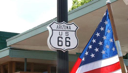 Immer am letzten Montag im Mai ist der Memorial Day - Ueberall sind US-Flaggen gehisst