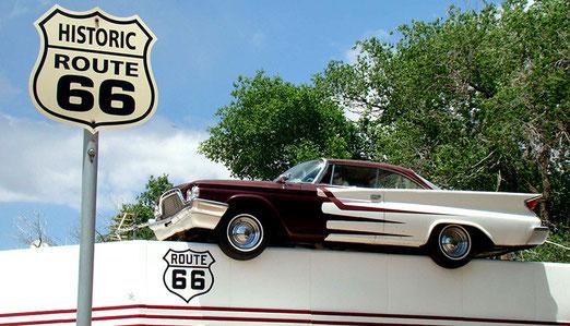 Erinnert an die Blütezeit von Ash Fork, als die Route 66 eine verkehrstechnische Bedeutung hatte.