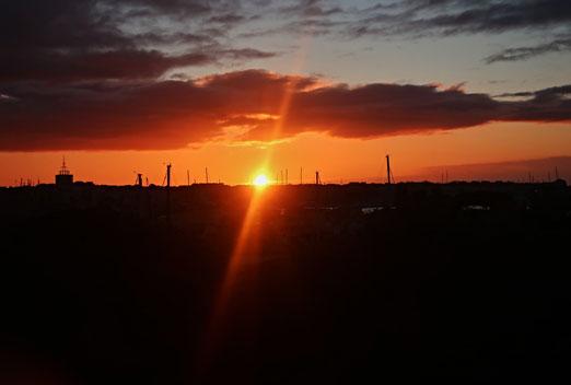 10 März 2020 - Magic Moment - ein Sonnenaufgang zeigt die Schönheit des Augenbliks