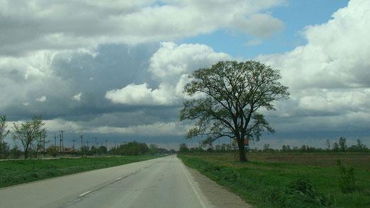 Weiter nach Wilmington - Man beachte den Verkehr auf der Route 66!