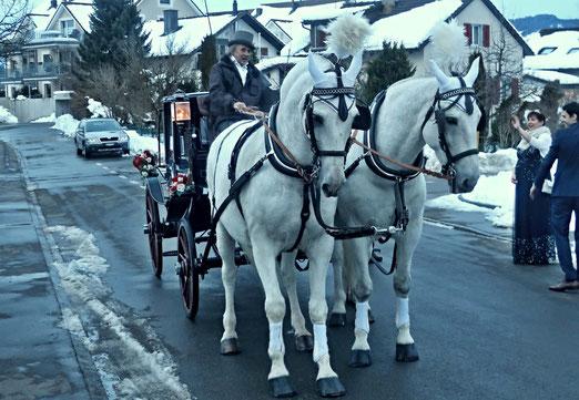22. Januar 2021 - Auf der Fahrt in Glück, trotz Corona, Eis und Schnee