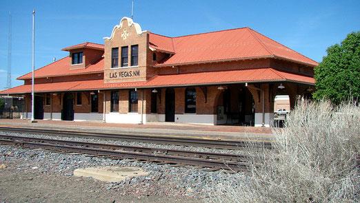 Las Vegas im Bundesstaat New Mexico war früher eine berüchtigte Wildwest-Stadt. Der Bahnhof steht - wie viele andere Gebäude - heute unter Denkmalschutz