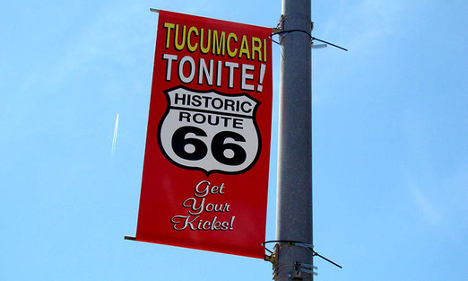 Get your Kicks on Historic Route 66 in TUCUMCARI (Der Name der Stadt ist indianischen Ursprungs)