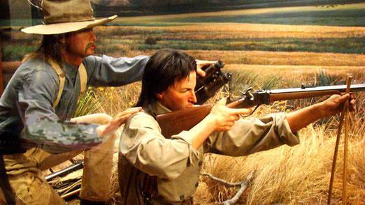 Ein dunkles Kapitel - Die Bleichgesichter vertrieben die Indianer mit ihren modernen Waffen in Reservate.