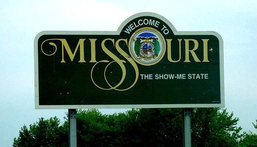 Wir verlassen Illinois, der Bundestaat Missouri heisst uns willkommen