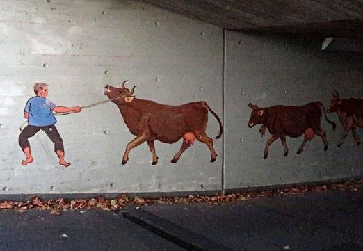 21. November 2017 - Alpabfahrt durcdh die Unterführung