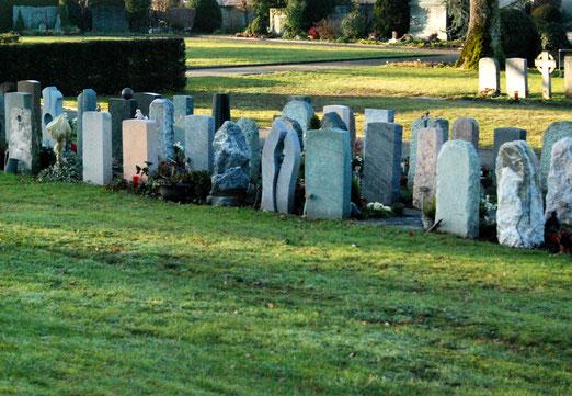 29. Dezember 2018 - Auf dem Friedhof kein Gedränge mehr. Die Toten brauchen kaum noch Platz.