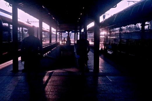 13. August 2021 - Am frühen Morgen auf dem Bahnhof