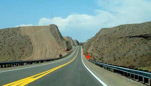 Auf der Anfahrt zum Hoover-Dam.