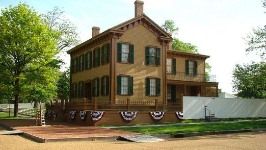 Springfield, die Hauptstadt des Bundesstaates Illinois steht ganz im Zeichen von Abraham Lincoln.- Hier das Abraham Lincoln-Haus