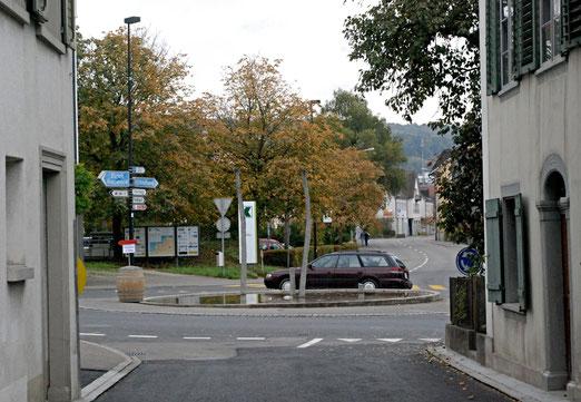 Kreisel im Dorf Steckborn (TG): Skulptur von Urs Traber                                            (Foto: Peter Züllig)