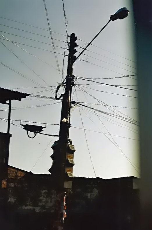 Strommast, fotografiert in Bélem, Brasilien     (Foto: Marcel Keller, St.Gallen)