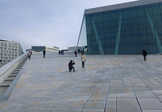 01. Oktober 2019 - Fotoshooting auf dem Dach der Oper in Oslo