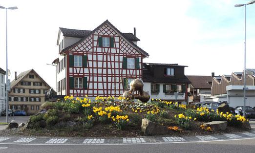 Dorfkern von Jonschwil (Kt. St. Gallen) (Foto: Hans Weiss, Flawil)