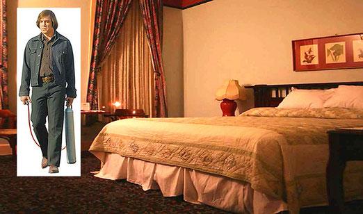 """Uebernachtung im historischen Plaza-Hotel in Las Vegas (Las Vegas New Mexico). In diesem Hotel wurden Szenen des Oscar-Films """"No Country for Old Men"""" gedreht."""