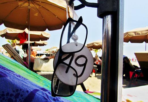 13. Juli 2021 - Am Strand, zweite Reihe, Sonnenschirm 19