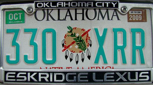 Endlich in Oklahoma-City eingetroffen.