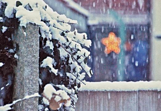 01. Dezemberber 2020 - Advent, Advent - der erste Schnee fällt
