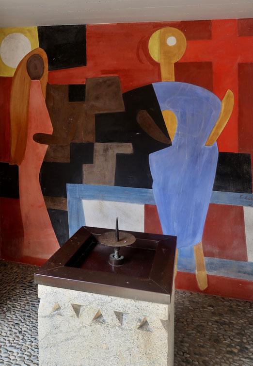 04. April 2018 - Auferstehung. Fresko von Ferdinand Gehr auf dem katholischen Friedhof in Romanshorn
