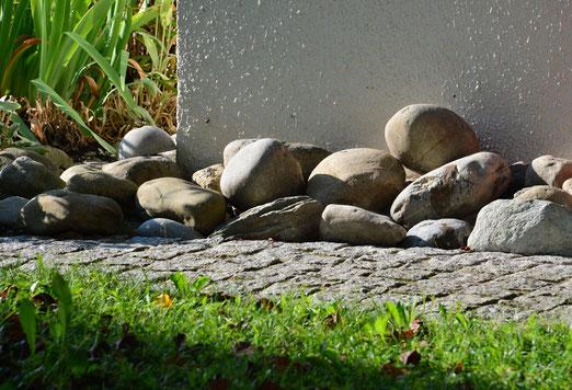 01. September 2020 - Steine neben den Weg gelegt