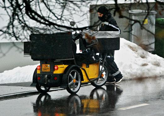 29. Januar 2021 - Post, auch wenn es aus allen Kübeln regnet
