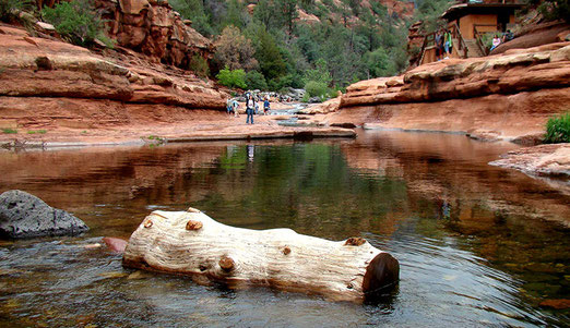 Der Slide Rock State Park. Eine Touristen-Attraktion