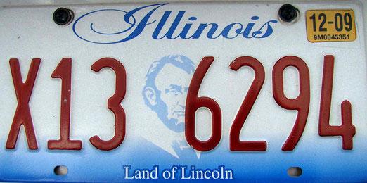 Start in Illinois auf die über 4000 Kilometer lange Reise. Streckenanteil Illinois: ca. 290 Meilen oder 470km