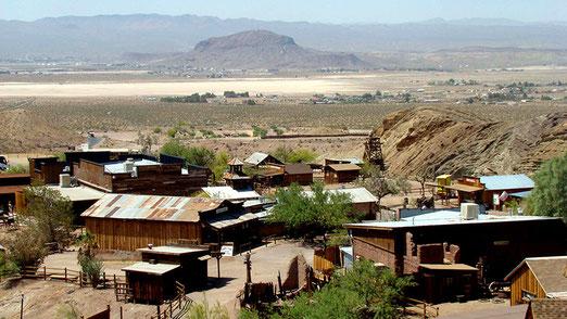 Ghost Town CALICO, eine verlassene Silbermine, jetzt Touristen-Attraktion