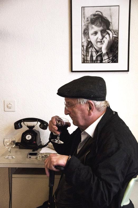 Peter Bichsel - Die Zeit verrinnt. Erinnerung an eine Ausstellung (Foto: Elsbeth Leisinger, Zürich))