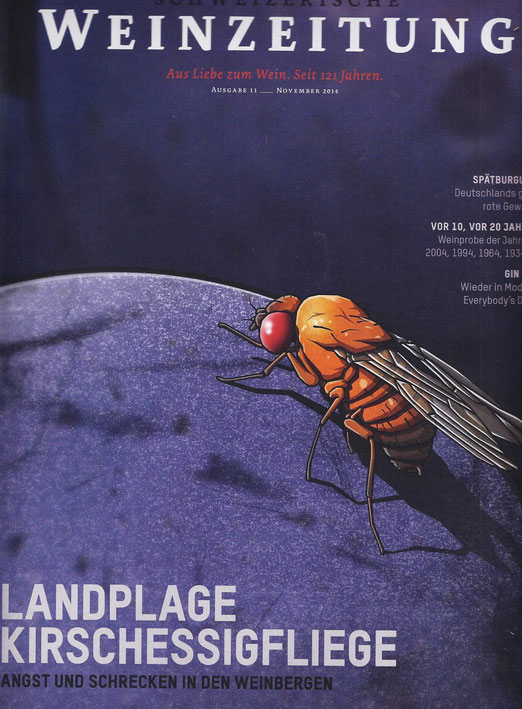 Titelblatt der Schweizer Weinzeitung