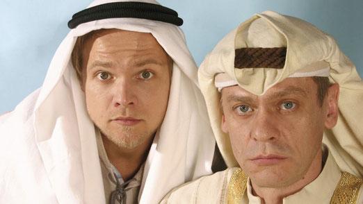 Hadschi Halef Omar (Matthias Koeberlin) und Kara Ben Nemsi (Sylvester Groth)  © WDR