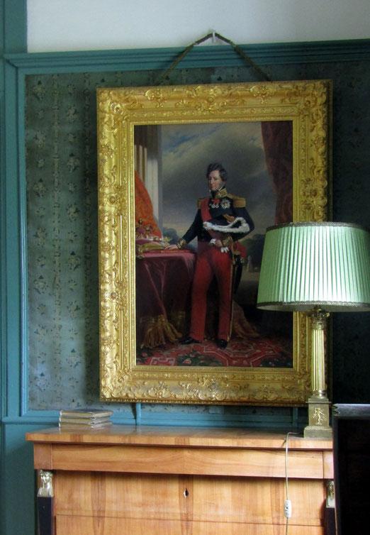 22. August 2019 - Auf Schloss Reichenau, im Zimmer, wo der spätere Bürgerkönig Louis-Philippe I. (König von Frankreich 1830-1848) vorher im Exil kurze Zeit gelebt hat.