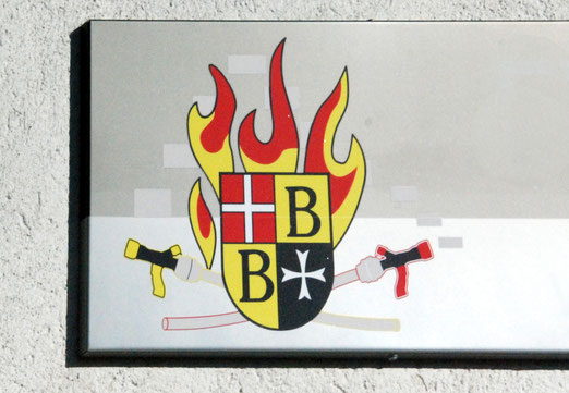 13. März 2021 - Wo das Gemeindewappen brennt, ist die Feuerwehr nicht weit