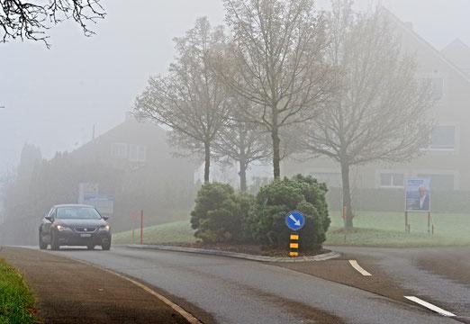 22. November 2020 - Heute Sonntag unterhalb rund 600 bis 700 Metern stellenweise Nebel.