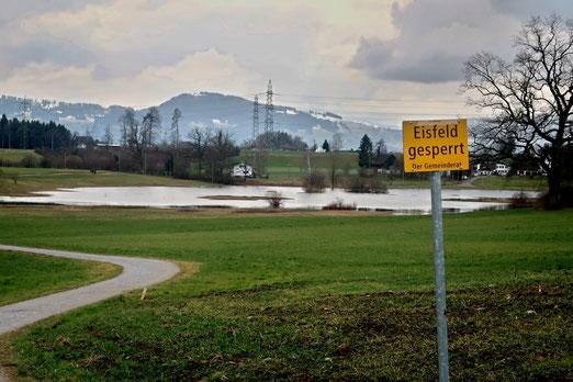 26. Januar 2020 - Eisfeld gesperrt - schwimmen erlaubt