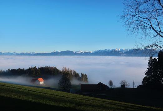 01. Januar 2020 - Über den Wolken