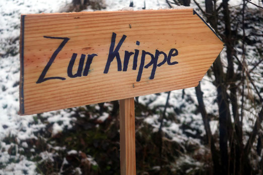 Traditionell wird die Weihnachtskrippe erst am 2. Februar - Lichtmess - weggeräumt.