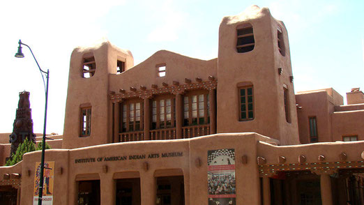 Die meisten Gebäude von Santa Fé sind in altindianischem Stil gebaut.