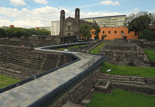 Square of the Three Cultures, Mexico City (Cvmontuy, Wikimedia Commons))