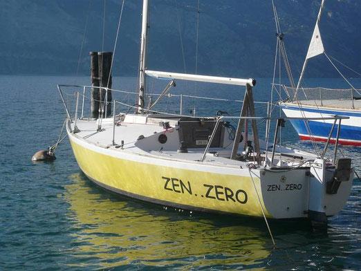 Zen..Zero come appariva al momento dell'acquisto al suo ormeggio di Malcesine.
